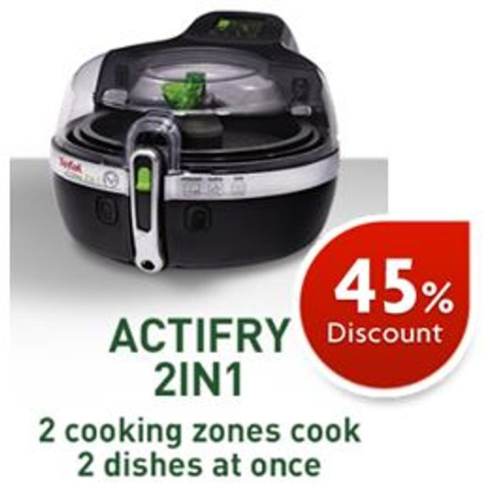 Cheap Tefal ActiFry 2-in-1 Airfryer - 6 Portions 1.5 Kg Capacity, Only £164.99!
