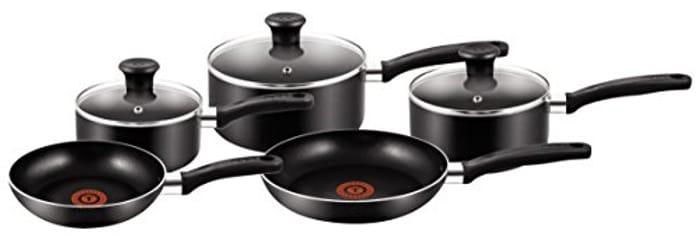 DOTD! Tefal 5 Piece, Essential, Pots and Pans Set