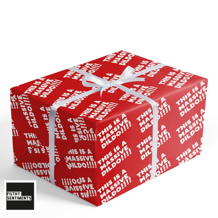 Adult Funny Christmas Wrapping Paper Now £1.99