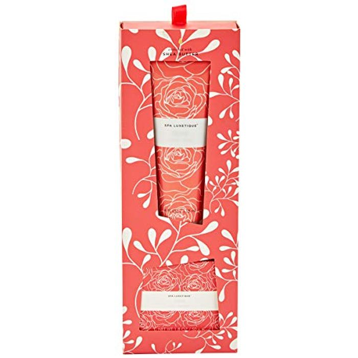 Spa Luxetique Rose Shea Butter Hand Cream & Bar Soap Duo Gift Sets for Her