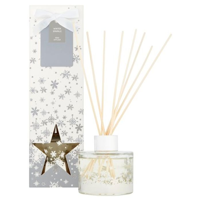Tesco Christmas 100Ml Reed Diffuser Winter Sparkle. Sweet Clementine Also.