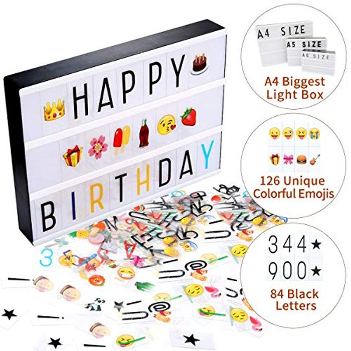 A4 Light Box with 210pc Letters, Symbols & USB Cable