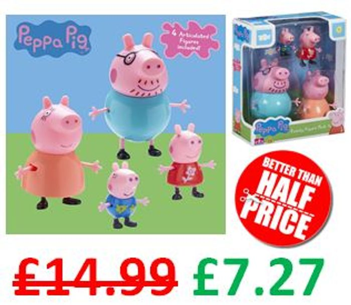 1/2 PRICE! Peppa Pig Family Figures Pack *4.6 STARS**