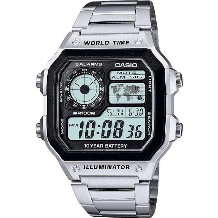 Cheap Casio Men's Stainless Steel World Time Illuminator Watch - Save £10!