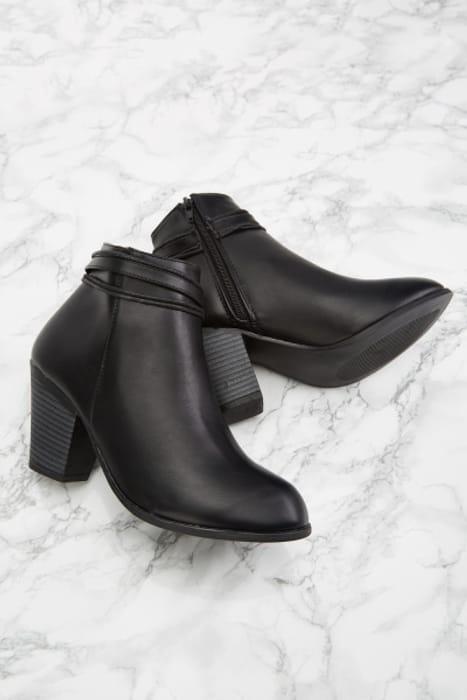 Black Block Heel Ankle Boots £5.00