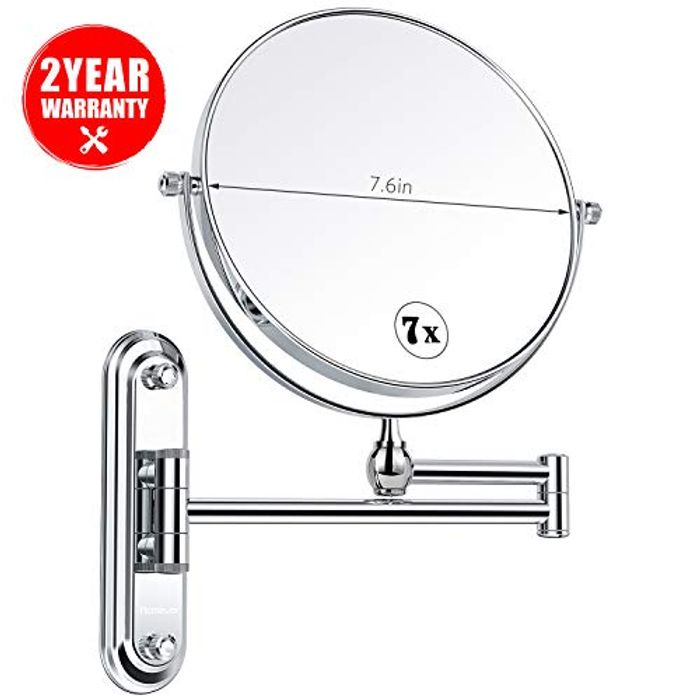 Bathroom Mirrors Wall Mounted with 7x Magnification