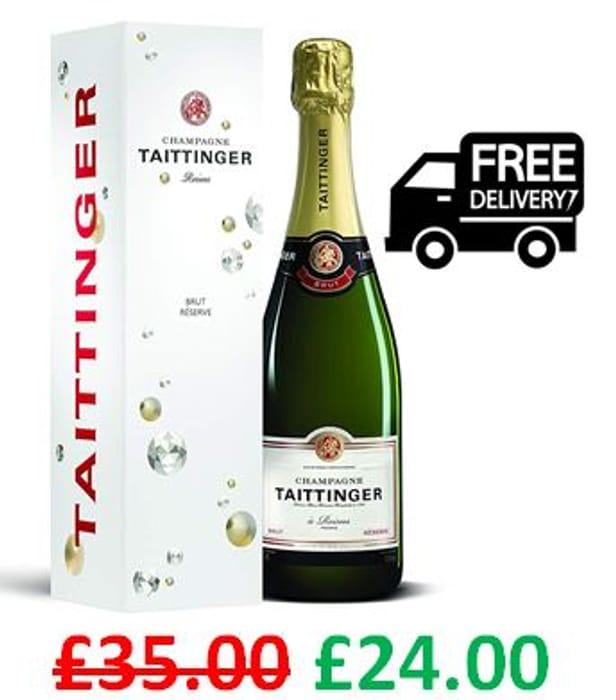 AMAZON #1 Best Seller - Taittinger Brut Reserve NV Champagne *4.7 STARS*