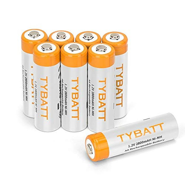35% off POWERAXIS AA Rechargeable Batteries 2800mAh[8-Pack]