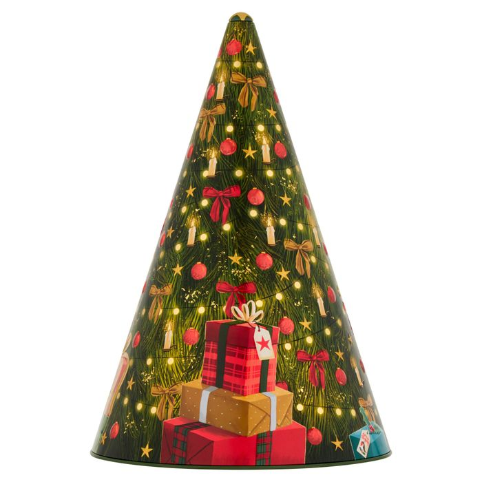 Tesco Musical Tree Tin with Mini Cookies 375g - HALF PRICE!
