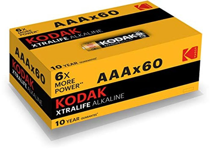 60 Kodak Batteries for £11.49 with Prime Delivery
