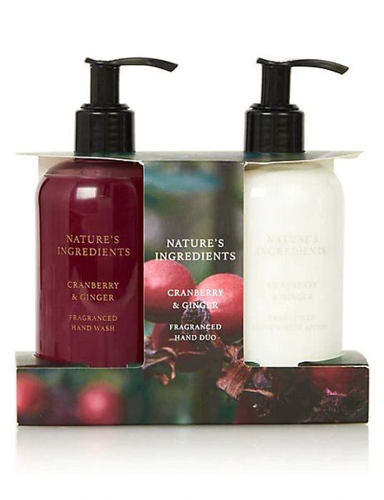 NATURE'S INGREDIENTS Lemon & Bergamot /Cranberry & Ginger Hand Wash Duo