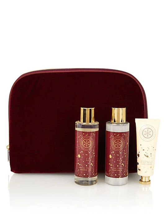 M&S COLLECTION Red Luxe Collection Velvet Bag Gift Set