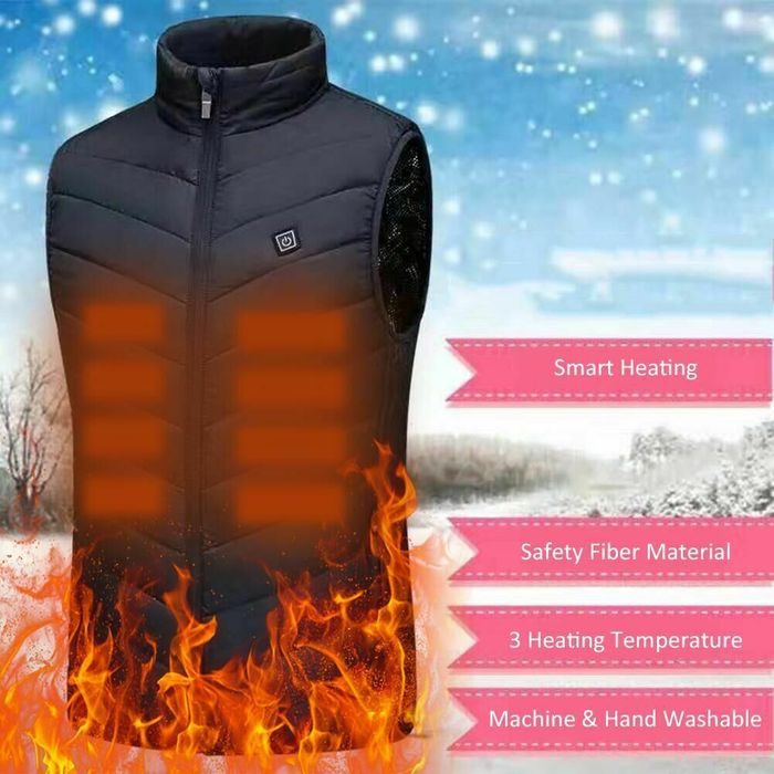 Stay Warm! USB Electric Heated Vest for £14.85