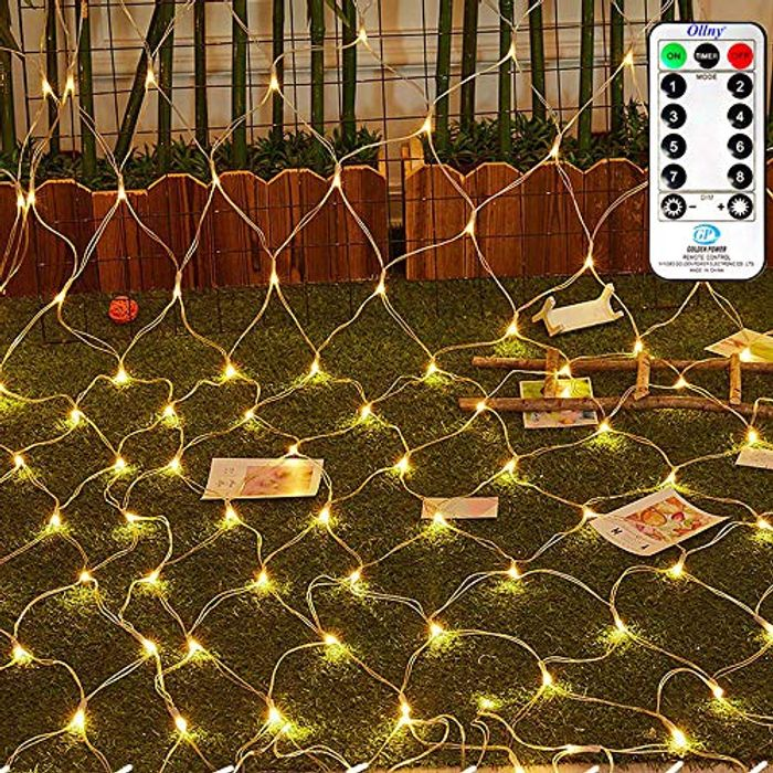 Ollny Led Net Mesh Fairy String Decorative Lights 200 LEDs 3m*2m with Remote