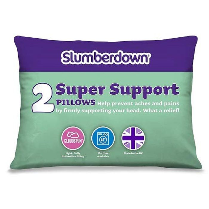 Slumberdown Super Support Pillow, Pack of 2