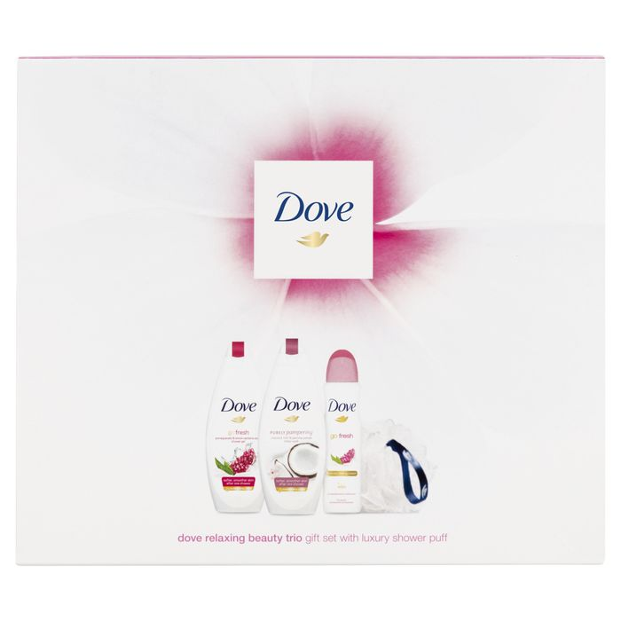 Dove Relaxing Beauty Trio & Luxury Shower Puff, Half Price!