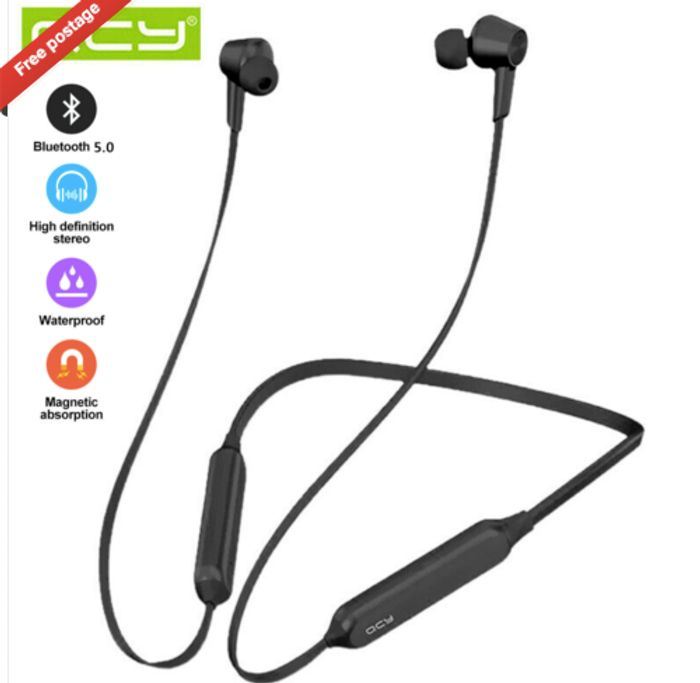 QCY L2 ANC Headphones Stereo Headset Wireless Bluetooth 5.0 Sport Earbuds W/ Mic