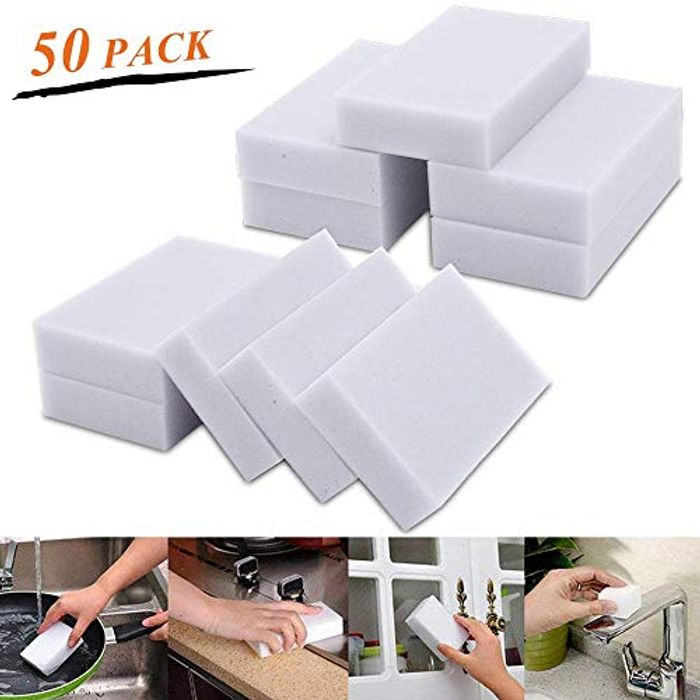 Household Magic Sponge (50 Pieces) 80% off + Free Delivery