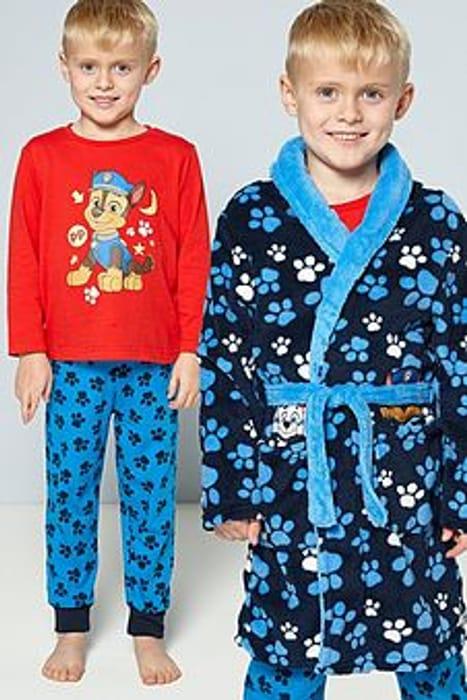 Paw Patrol One Team Pyjamas and Dressing Gown