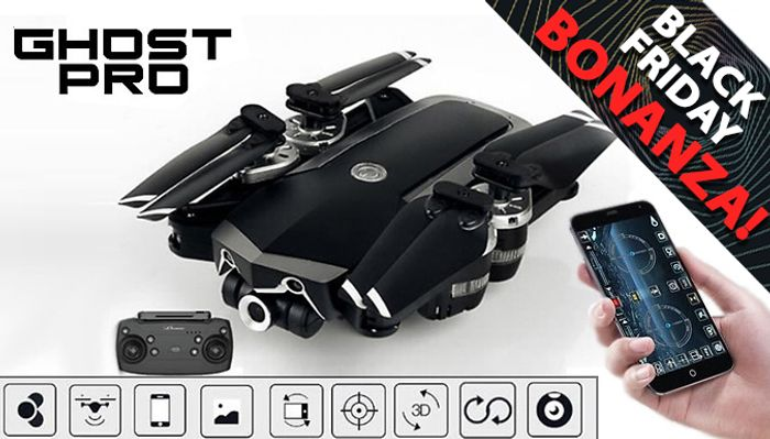 CHEAP! Ghost-Pro next Gen Smart Drone with Wi-Fi HD Wide Angle Camera