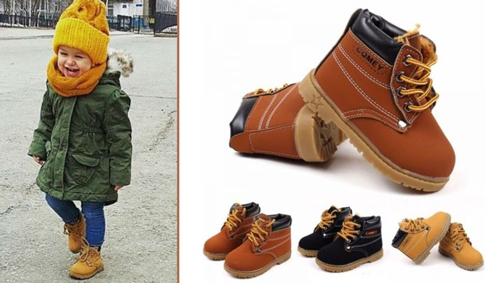 Kids Lace-up Ankle Boots - 3 Colours