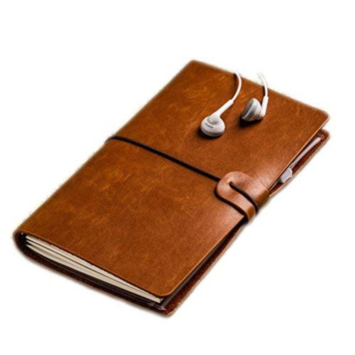 50% off Leather Notebook, Perfect for Writing, Gifts, Fountain Pen Users