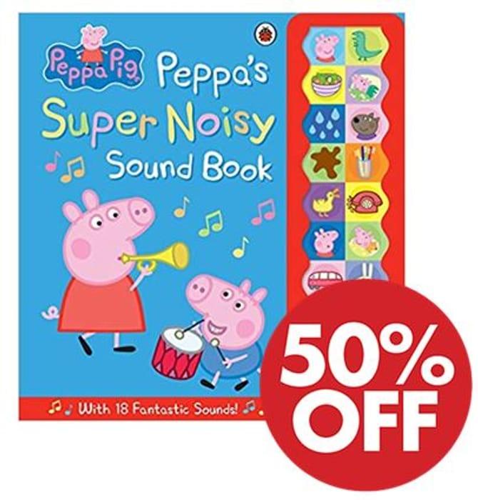 1/2 PRICE! Peppa Pig: Peppa's Super Noisy Sound Book *4.7 STARS*