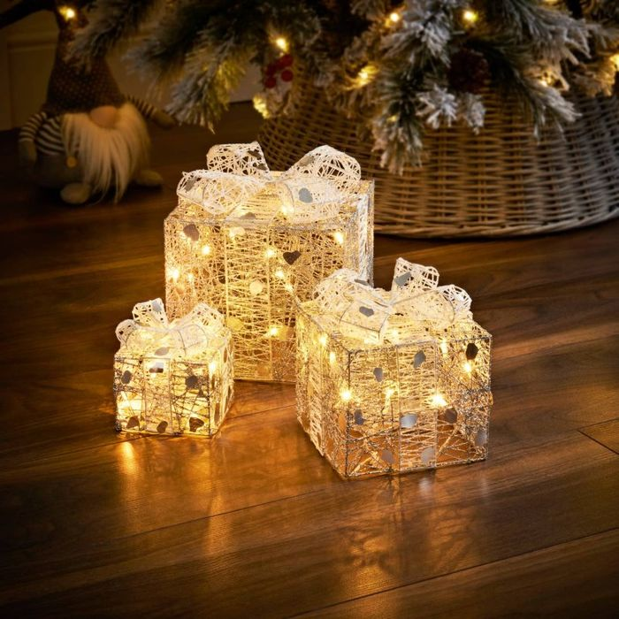 Light up Christmas Presents - Champagne
