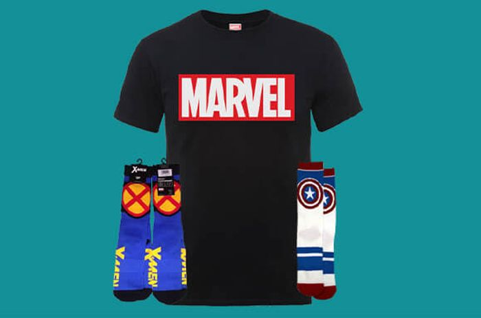 Special Offer - Marvel Mega Bundle! Tee and 2 Pairs of Socks for £9.99
