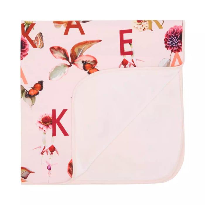 Baker by Ted Baker-Light Pink Floral Fleece Throw