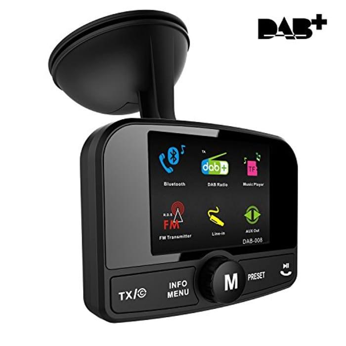 "FirstE  2.4"" Colorful Display]Car DAB/DAB+ Radio Adaptor,"