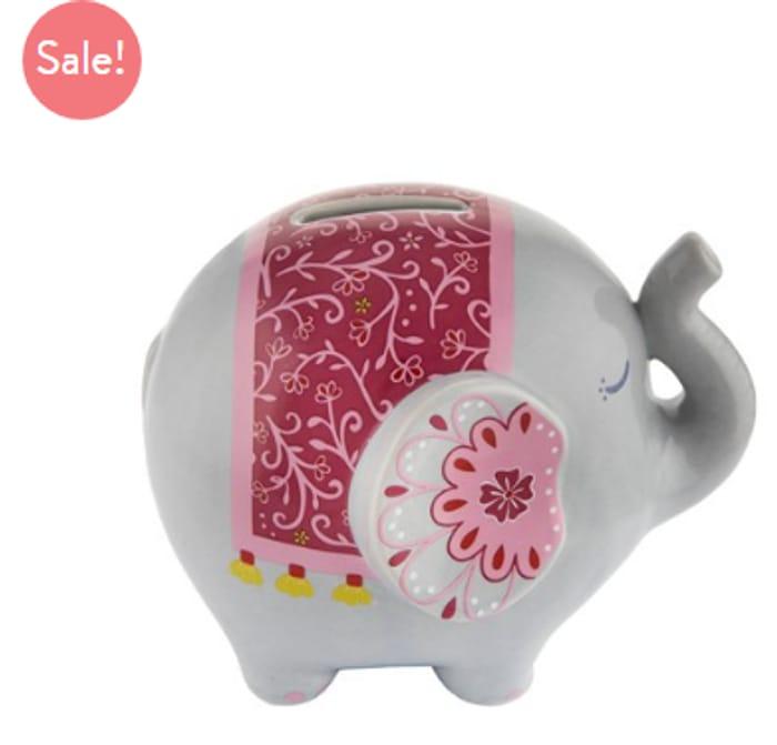 Mandala Elephant Money Bank