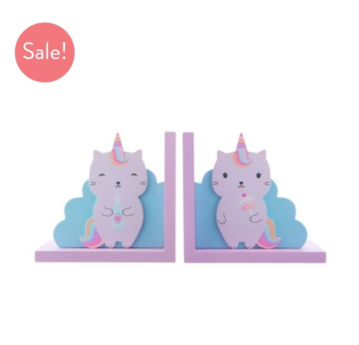 Luna Caticorn Bookends at Sassandbelle - Only £5!