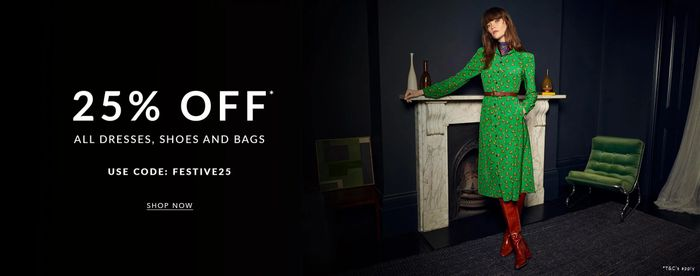 25% off All Dresses, Shoes & Bags