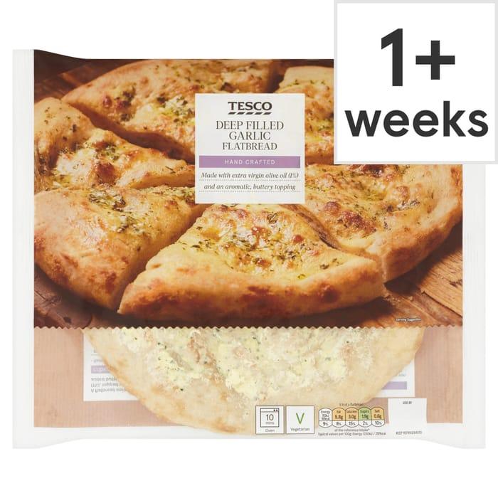 Tesco - Garlic Flatbread 50%off