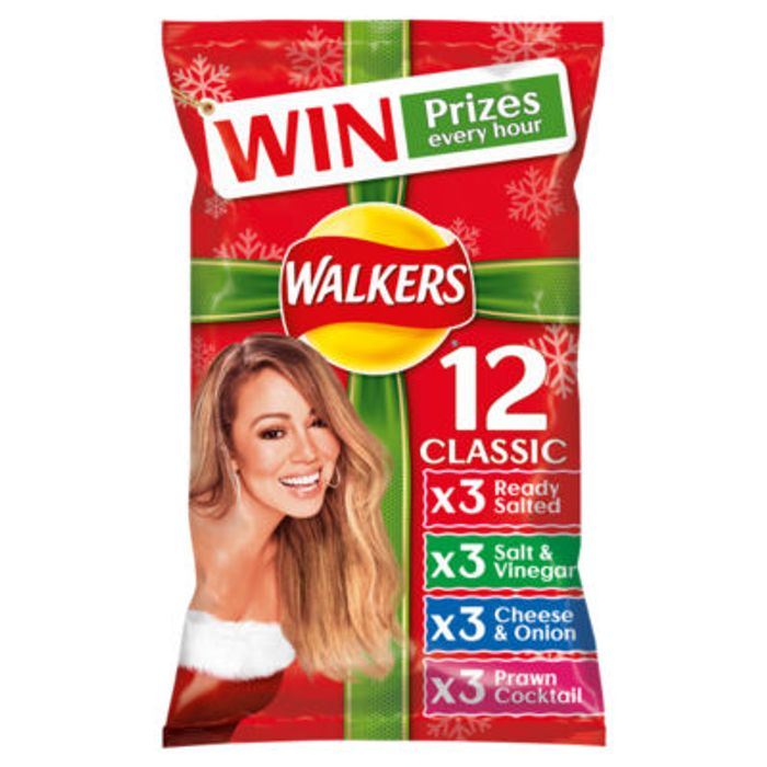 Cheap Walkers Classic Variety Crisps 12 Pack - Save £1!