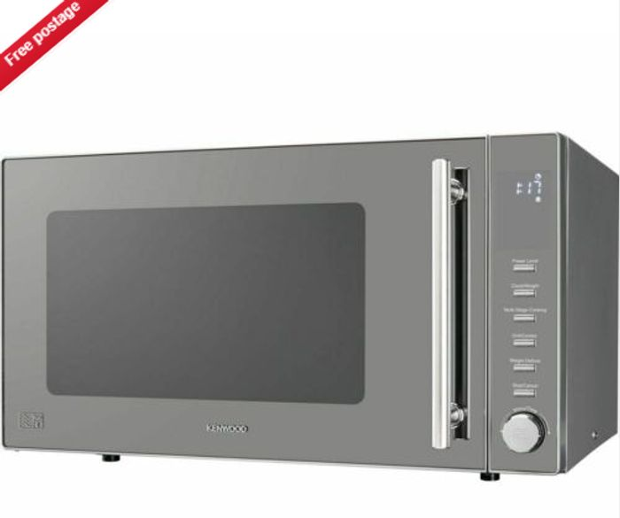 KENWOOD K30GMS18 Compact Microwave with Grill - Silver - Only £62.84