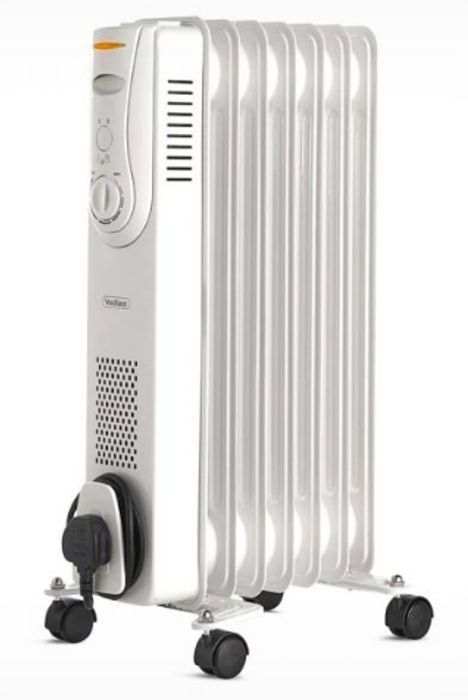 7 Fin 1500W Oil Filled Radiator - White Only £22.39