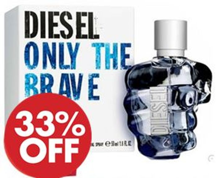 Best Price! DIESEL ONLY THE BRAVE 50ml **4.7 STARS** FREE DELIVERY Only £31.28