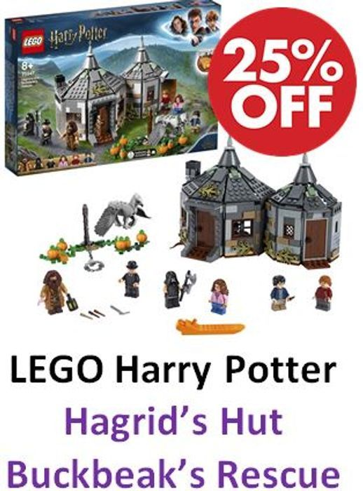 LEGO HARRY POTTER Hagrids Hut Buckbeaks Rescue (75947) *4.9 STARS*