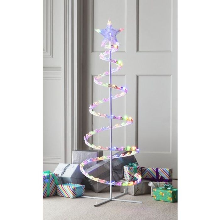 Argos Home 4ft 100 LED Spiral Tree - White 25% Off