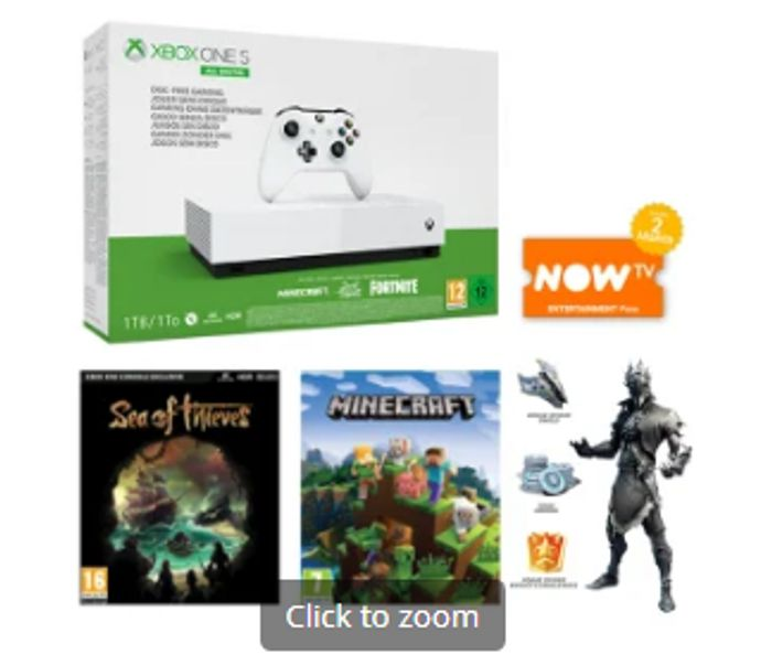 1TB XBOX ONE S ALL DIGITAL EDITION and NOW TV Only £199