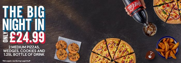 Goole: 40% off Orders over £50 at Domino's Pizza