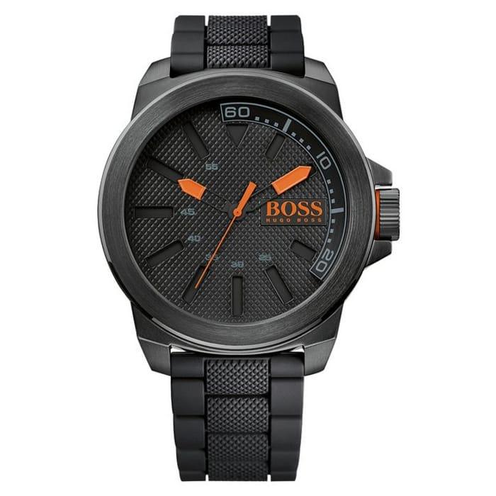 Cheap Boss Orange New York Men's Black Strap Watch, Only £79.99!