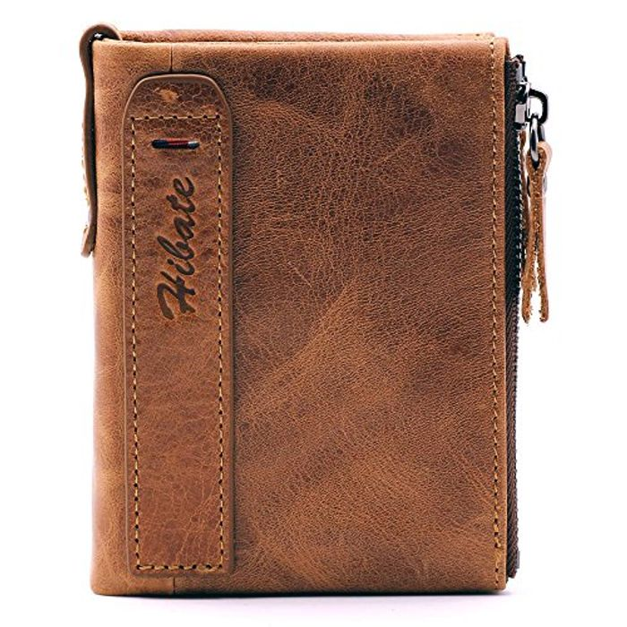 Hibate Men Leather Wallet at Amazon - Only £8.99!