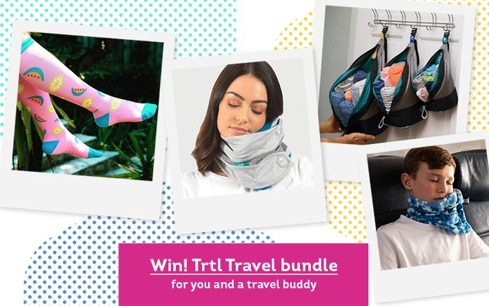 Win a Complete Travel Bundle from Trtl for You and Your Travel Buddy!