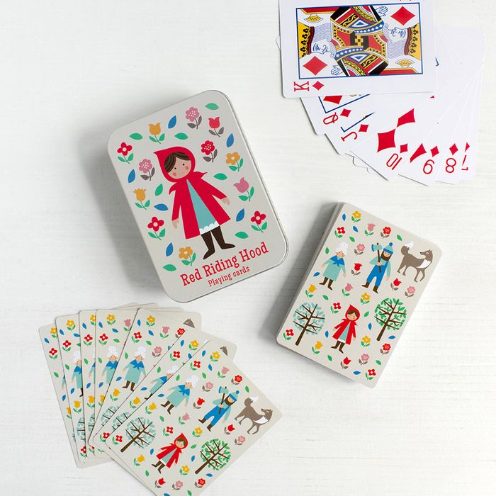 Cheap Little Red Riding Hood Playing Cards in Tin, reduced by £3.95!