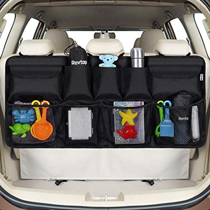 Car Back Seat Organizer with 9 Pockets Backseat Organizer