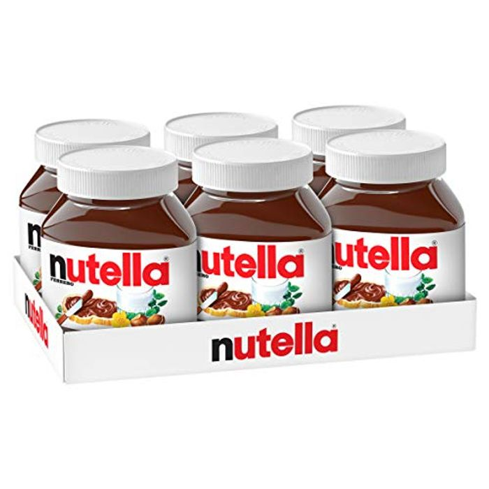 Nutella Hazelnut Spread with Cocoa, Jar, 750 G (Pack of 6)