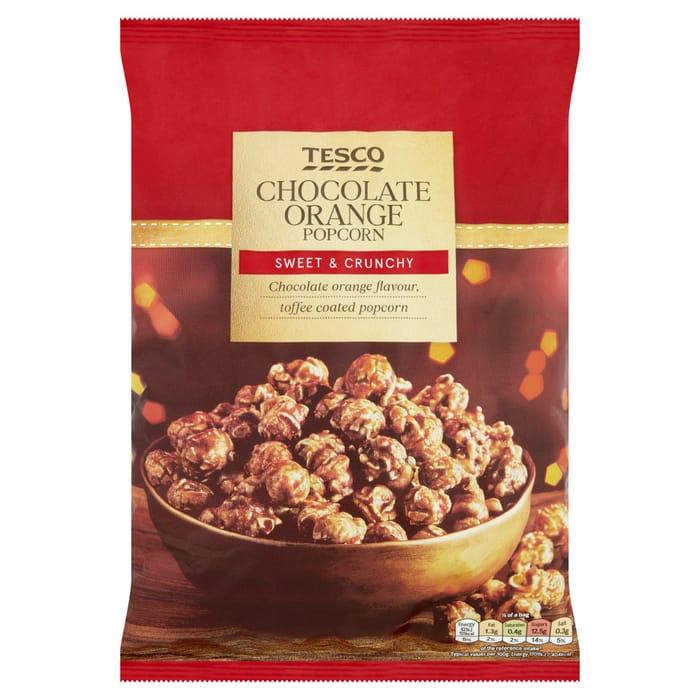 Tesco Chocolate Orange Popcorn 200G/Tesco Festive Sausage Roll Puffs 250G